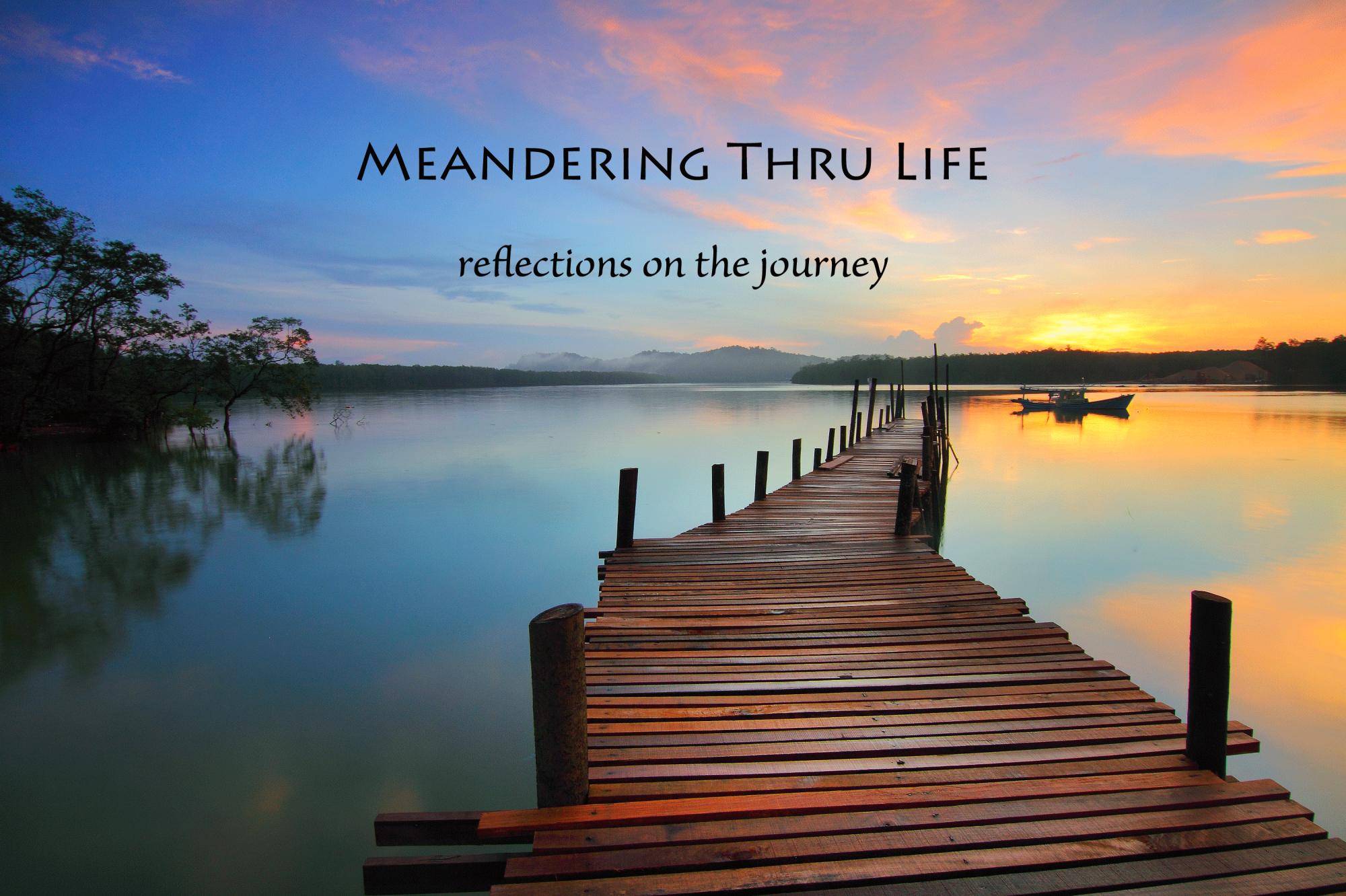 Meandering thru life